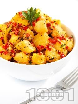 Ароматни картофки с мак - снимка на рецептата